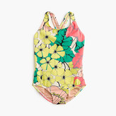 J.Crew Girls' one-piece swimsuit in punchy hibiscus