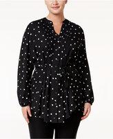 Melissa McCarthy Trendy Plus Size Polka-Dot Tunic