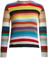 Gucci Long-sleeved striped cashmere-blend sweater
