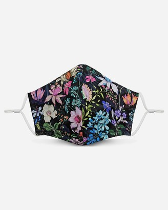 Express Pocket Square Clothing Floral Unity Face Mask