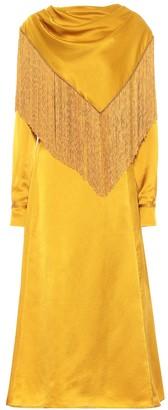 Gabriela Hearst Rouge silk satin midi dress