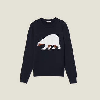 Sandro Sweater With Jacquard Bear