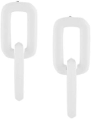 Off-White Double-Link Drop Earrings