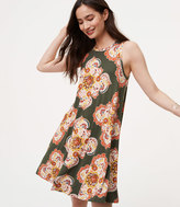 LOFT Floral Medallion Swing Dress