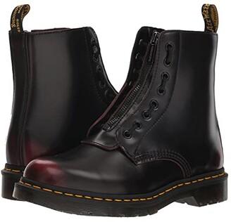 Dr. Martens 1460 Pascal Front Zip (Black Nappa) Women's Boots