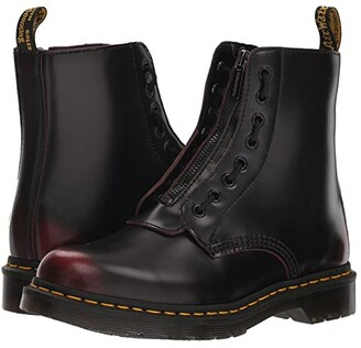 Dr. Martens 1460 Pascal Front Zip (Cherry Red Arcadia) Women's Boots