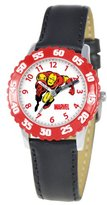 Iron Man Marvel Comics Kids' W000119 Stainless Steel Time Teacher Watch