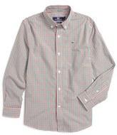 Vineyard Vines Boy's Gardiners Gingham Woven Shirt