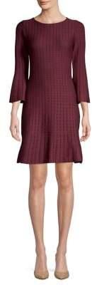 Taylor Ticking Stripe A-Line Sweater Dress