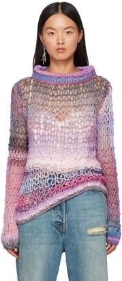 Anna Sui Pink Sunset Spacedye Sweater