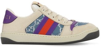 Gucci 25mm Wool Blend Sneakers W/ Web Detail