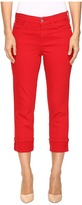 NYDJ Dayla Wide Cuff Capris in Sweet Strawberry Women's Capri