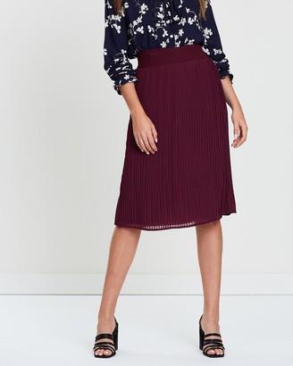 KAJA Clothing - Women's Red Pleated skirts - Geneva Skirt - Size One Size, S at The Iconic