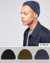Asos Mini Fisherman 3 Pack In Black Khaki And Denim SAVE