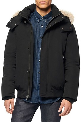 Andrew Marc Coyote Fur-Trimmed Down Bomber