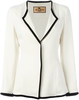 Etro contrast piped trim blazer