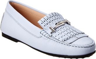 Tod's Gommino Chain Detail & Fringe Leather Driving Shoe