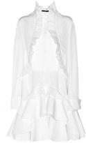 Alexander McQueen Pleated Jacquard Dress