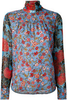 See by Chloe dream print neck tie blouse