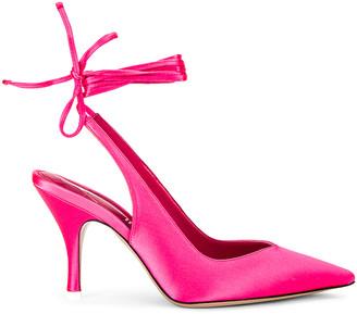 ATTICO Lace up Slingback Heel in Strawberry | FWRD