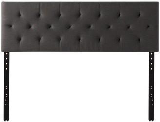 Brookside Emmie Adjustable Upholstered Headboard, Charcoal, King