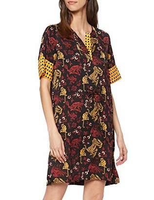 Scotch & Soda Maison Women's Mixed Print Dress with Waist Drawcord