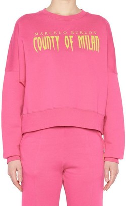 Marcelo Burlon County of Milan Logo Print Sweatshirt
