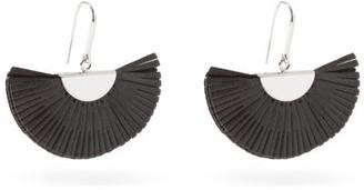 Isabel Marant Fan Leather Earrings - Black
