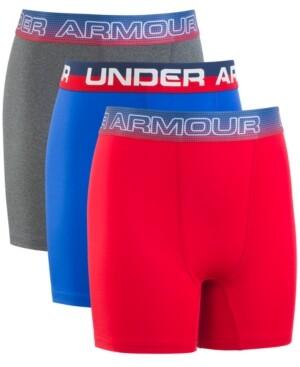Under Armour Big Boys 3-Pack Stars Performance Boxer Briefs