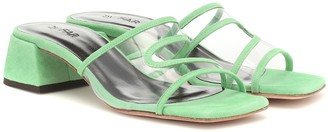BY FAR Lola suede and PVC sandals