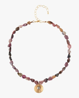 Chan Luu Coin Beaded Pendant Necklace