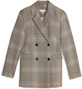 TopShop Glen Plaid Double Breasted Blazer