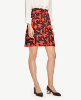 Ann Taylor Vine Jacquard Side Pocket Skirt