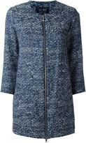 Armani Jeans bouclé zip coat