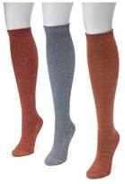 Muk Luks Women's 3 Pair Pack Lurex Knee High Socks - Multicolor One Size