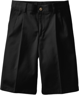Chaps Boys 4-20 & Husky School Uniorm Pleated Twill Shorts