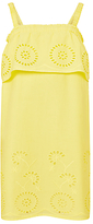 John Lewis Girls' Broderie Shoulder Dress, Yellow