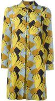 L'Autre Chose geometric print shirt dress