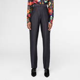 Paul Smith Women's Slim-Fit Navy Silk-Satin Trousers
