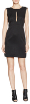 L'Agence Satin Double Keyhole Sheath Dress