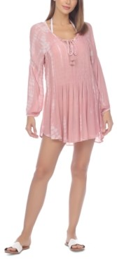 Raviya Tie-Dyed Smocked Mini Dress Cover-Up Women's Swimsuit
