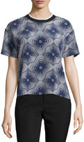 Opening Ceremony Niko Medallion Silk Top, Ink