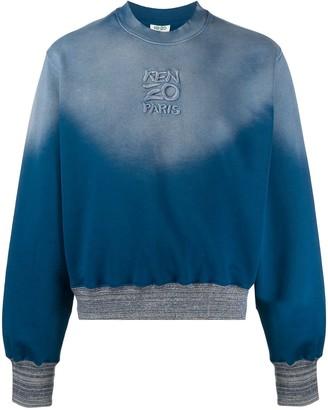 Kenzo Faded-Effect Long-Sleeved Sweatshirt