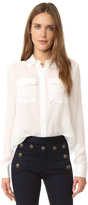 Veronica Beard Patch Pocket Blouse