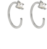 Melissa Joy Manning Tiny Pearl Hugs - Silver Earrings