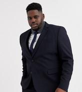 Asos Design ASOS DESIGN Plus skinny suit jacket in navy