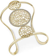 INC International Concepts Gold-Tone Filigree and Pavé Wide Cuff Bracelet, Only at Macy's