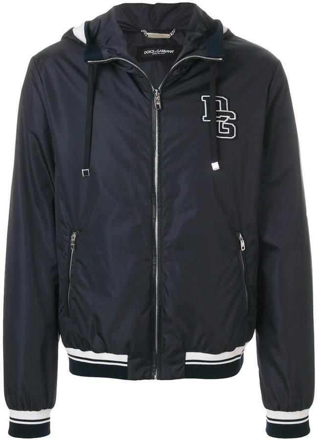 Dolce & Gabbana logo patch hooded jacket