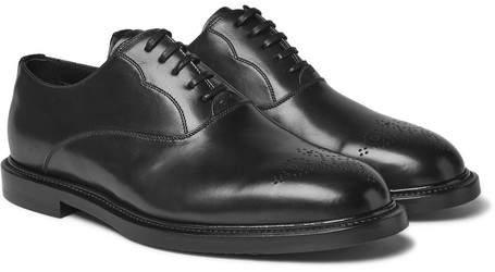 Dolce & Gabbana Marsala Leather Oxford Shoes