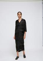 Zero Maria Cornejo Black Bronze Ls Koya Dress